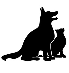Dog and Cat Silhouette vector image