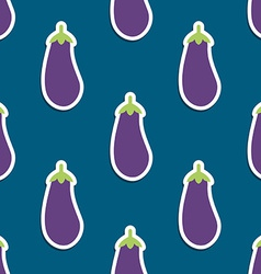 eggplant pattern Seamless texture with ripe vector image vector image