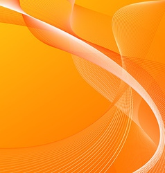 Abstract background with orange lines vector image vector image