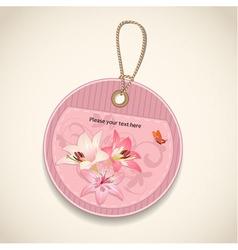Floral design label vector image vector image