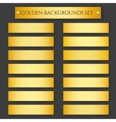 Golden Backgrounds set vector image vector image