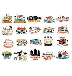 Halloween horror and eerie banners vector image vector image