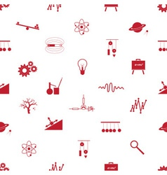 physics icons seamless pattern eps10 vector image