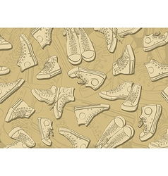 Sneakers Background vector image