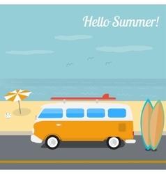 Summer surfing in the ocean beach vector image