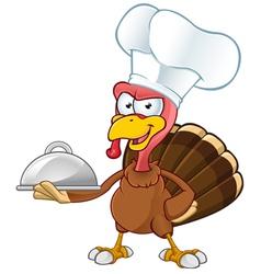 Turkey Mascot Chef vector image vector image