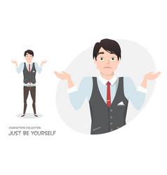 young businessman doubt no ideas vector image vector image