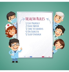 Doctors Presenting White Board vector image