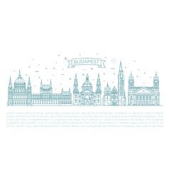 hungarian travel landmark of historical buildings vector image vector image