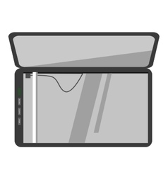 icon of scanner machine vector image vector image