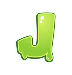 slimy font type letter j vector image vector image