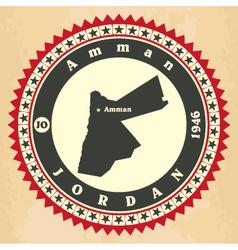 Vintage label-sticker cards of Jordan vector image
