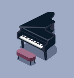 black grand piano isometric vector image