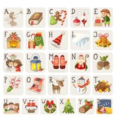 Christmas alphabet vector
