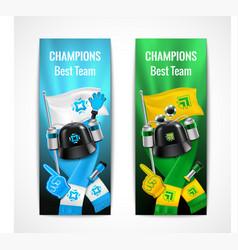 fan sport banners set vector image vector image