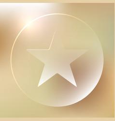 favorite star glassy icon favorite star glassy vector image