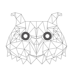 low bird low poly isolated icon vector image