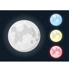 Moon Set vector image