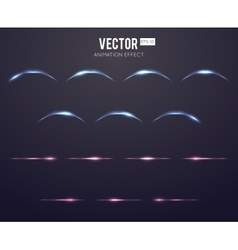 Realistic light effect lens flare animation frames vector image