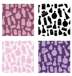 seamless cosmetic pattern vector image vector image