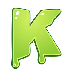 slimy font type letter k vector image vector image