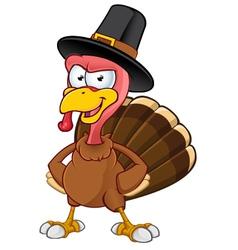 Turkey Mascot Hands On Hips vector image