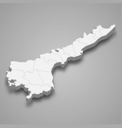 3d map state india vector