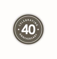 40 years anniversary celebrating retro vintage vector