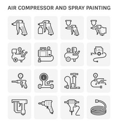Air compressor painting icon vector