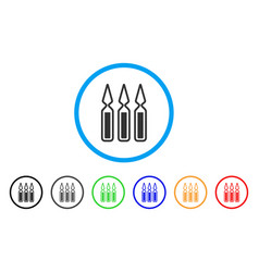 Ampoules rounded icon vector