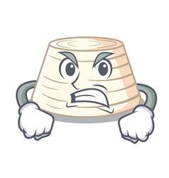 angry italian ricotta cheese on mascot cartoon vector image