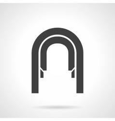 Arched corridor glyph style icon vector image