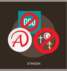 Atheism conceptual design vector
