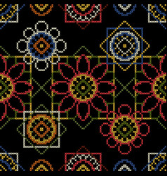 Background for cross stitch scrapbooking and vector