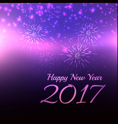 Beautiful purple background for 2017 new year vector
