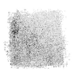 black dotted square blob vector image