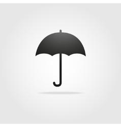 black simple umbrella Stock vector image vector image