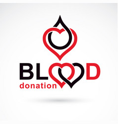blood donation conceptual world blood donor day vector image