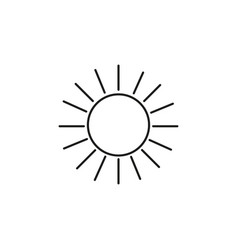 bright sun linear icon vector image