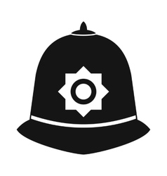 British police helmet icon simple style vector image