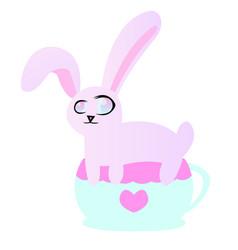 Bunny in a cup vector