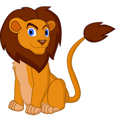 cartoon lion pose vector image