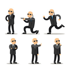 Cartoon professional safeguard man security guard vector