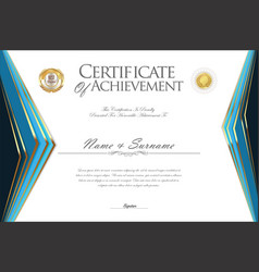 certificate or diploma design template 2 vector image