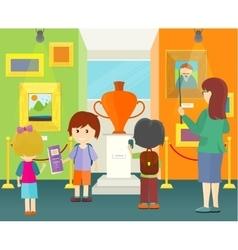 Children in Museum vector