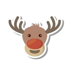 Christmas reindeer character isolated icon vector