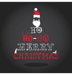 Christmas Typography Retro Card vector
