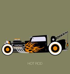 classic crane hot rod vector image