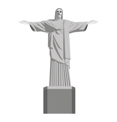 corcovado statue christ isolated icon vector image
