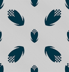 Corn icon sign Seamless pattern with geometric vector